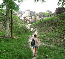Path Towards the Mayan Ruins in Tikal, Guatemala  by heatherfriedman