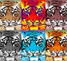 Rainbow Tiger by Patricia Anne McCarty-Tamayo