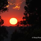 A lovely sunrise over Kurri Kurri by Penny Brooks