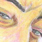 Man with green eyes glaring by Kyleacharisse