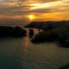 Kynance Cove at Sunset by Simon Marsden