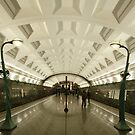 Slavyanskiy Bulvar Metro Station, Moscow by offwhitedog