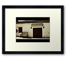 Old Town Framed Print