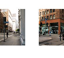 6th Street + Spring Street, Downtown, Los Angeles, California, USA...narrowed. by David Yoon