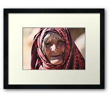 Old Woman (afghanistan) Framed Print
