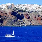 Santorini,viewed from the boat by DimitriS-Gr