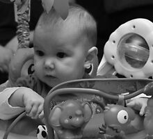 Ryleigh in Bouncer- black  and white by mltrue
