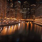 Chicago at Night by celestialoceana