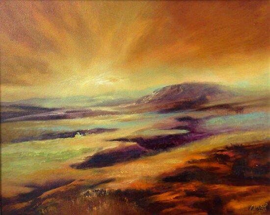 Moorland Dawn by C J  Elsip