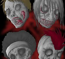 zombie heads by korosukun