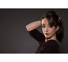 A Modelling Portrait of Chloe Jane Photographic Print