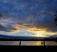 Albert Park Lake Melbourne by Bevellee