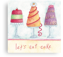 Let's eat cake Canvas Print