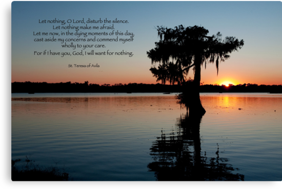 Let nothing, O Lord, disturb the silence . . . by Bonnie T.  Barry