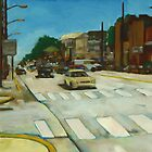 Summer street scene by Jim Angel