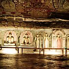 Dambulla Cave Temple - statues and paintings by Chaminda Subasinghe