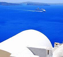 Santorini's Blue Whiteness by DimitriS-Gr