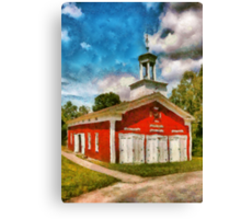 Fireman - The Fire house Canvas Print