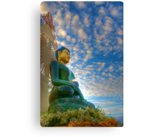 Jade Buddha for Universal Peace Canvas Print