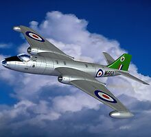 In Her Pomp: English Electric Canberra B6 aircraft painting by coldwarwarrior