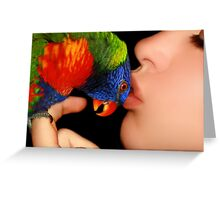 A Loving Kiss ♥ Greeting Card