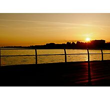 Clacton Sunset Photographic Print