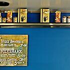 retro cafe shelf by nadine henley