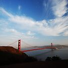 Golden Gate sky by Tom  Marriott
