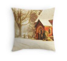 Winter's wreath Throw Pillow