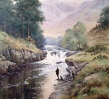 Salmon Fishing, Scotland by JoeHush