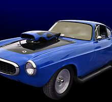 """Blue 1966 Volvo Dragster """"Volvoid"""" by TeeMack"""
