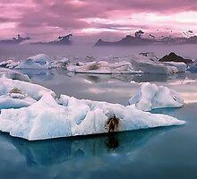Glacier lagoon,Iceland  by leksele