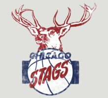 Chicago Stags - Blue/Red T-Shirt