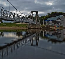 Swing Bridge Reflections by dav15