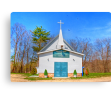 Little Country Chapel Canvas Print