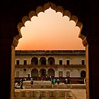 Sunset - Agra Fort by Andrew To