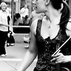 Violinist Melbourne by Andrew  Makowiecki