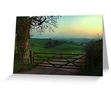Southcoombe at sunset Greeting Card
