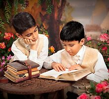 Boys Reading by Kelly Petersen