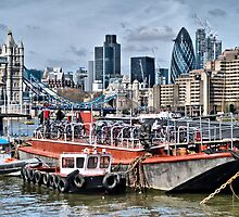 River Thames London Skyline by Karen Martin