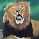 Pastel Lion Study by Heather Ward