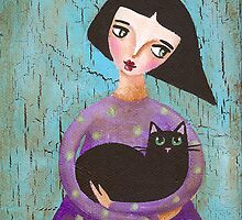 Celia and Cecil Cat by Ryan Conners