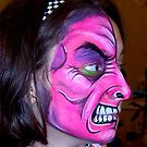 Girl With A Purple Face ... by Danceintherain
