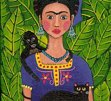 Frida and Pets by Ryan Conners