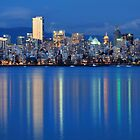 Vancouver city Twilight by Pierre Leclerc