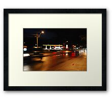 Blood on the streets Framed Print