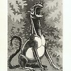 animal dreamt by C.S.Lewis, etching by sirbonessa