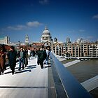 London - St Paul&#x27;s &amp; Millennium Bridge by Nick Bland