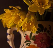 Daffodils In A Ceramic Jug by OhBlee