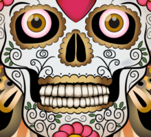 Feathered Skull Sticker